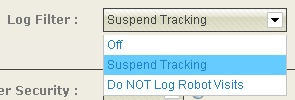 setting suspend tracking